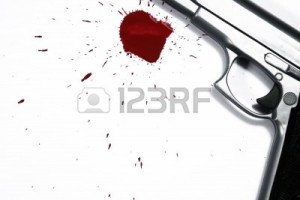 3796019-gun-and-blood-splatter-murder-scene