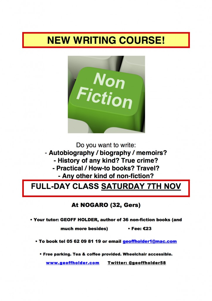 WRITING NON-FICTION poster