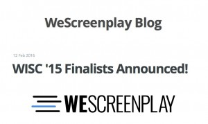 we screenplay finalists